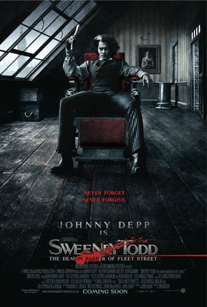 Sweeney Todd: The Demon Barber of Fleet Street - British Movie Poster (thumbnail)