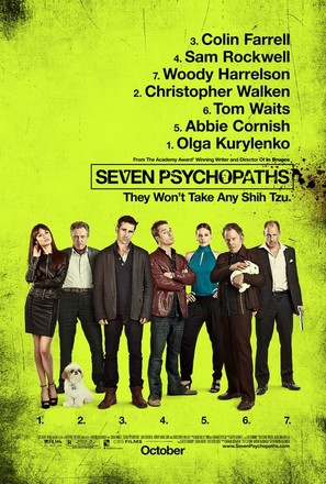 Seven Psychopaths - Movie Poster (thumbnail)