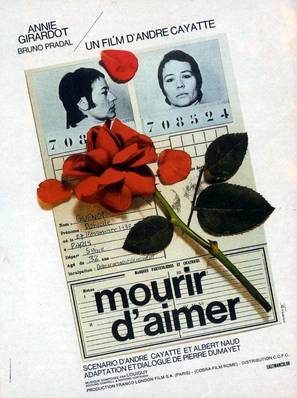 Mourir d'aimer - French Movie Poster (thumbnail)