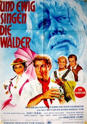 Und ewig singen die Wälder - German Movie Poster (thumbnail)