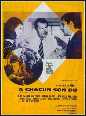 A ciascuno il suo - French Movie Poster (thumbnail)