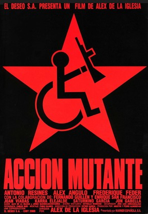 Acción mutante - Spanish Movie Poster (thumbnail)