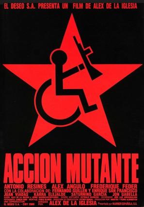 Acción mutante - Spanish Movie Poster (thumbnail)