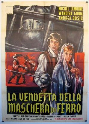 La vendetta della maschera di ferro - Italian Movie Poster (thumbnail)