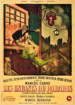 Les enfants du paradis - French Movie Poster (thumbnail)
