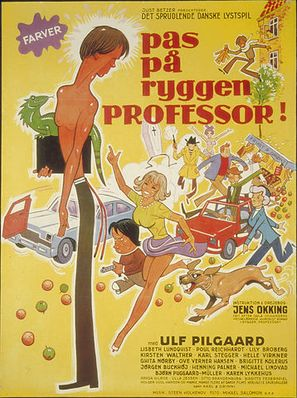 Pas på ryggen, professor - Danish Movie Poster (thumbnail)