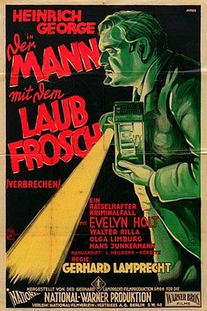Der Mann mit dem Laubfrosch - German Movie Poster (thumbnail)