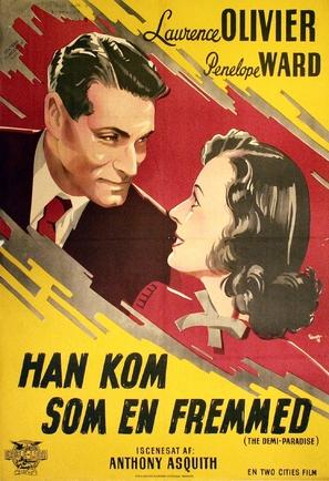 The Demi-Paradise - Danish Movie Poster (thumbnail)