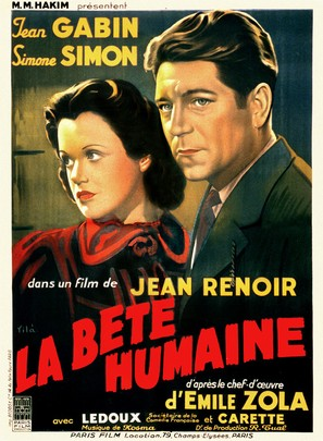 La bête humaine - French Movie Poster (thumbnail)