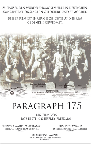 Paragraph 175 - German poster (thumbnail)