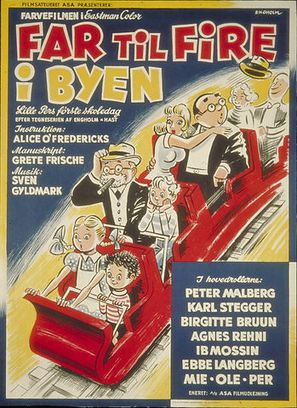 Far til fire i byen - Danish Movie Poster (thumbnail)