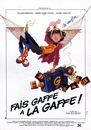 Fais gaffe à la gaffe! - French Movie Poster (thumbnail)