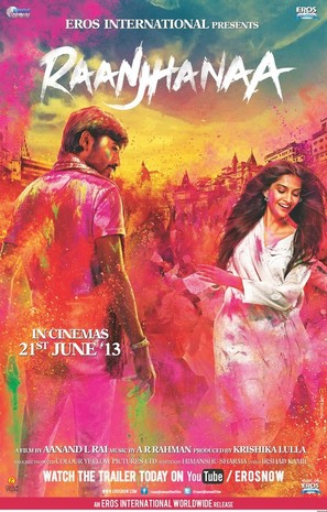 Raanjhanaa - Indian Movie Poster (thumbnail)