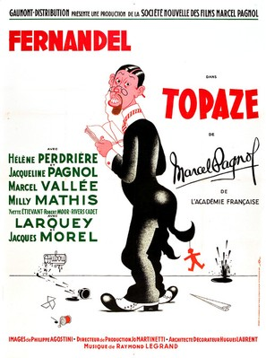 Topaze - French Movie Poster (thumbnail)