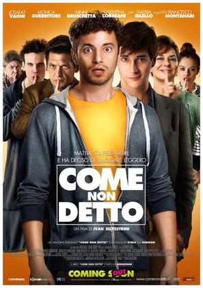 Come non detto - Italian Movie Poster (thumbnail)