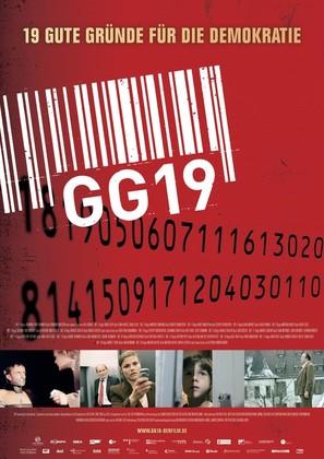 GG 19 - Eine Reise durch Deutschland in 19 Artikeln - German poster (thumbnail)