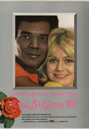 Vill så gärna tro - Swedish Movie Poster (thumbnail)