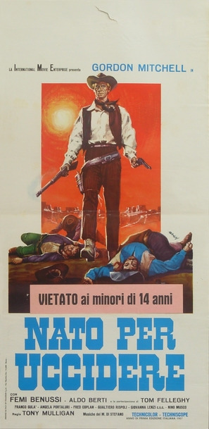 Nato per uccidere - Italian Movie Poster (thumbnail)