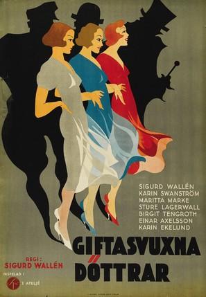 Giftasvuxna döttrar - Swedish Movie Poster (thumbnail)
