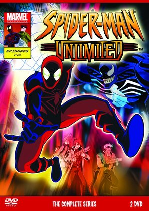 """Spider-Man Unlimited"" - British DVD movie cover (thumbnail)"