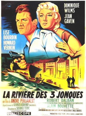 La rivière des 3 jonques - French Movie Poster (thumbnail)