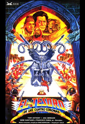 El tesoro de las cuatro coronas - Spanish Movie Poster (thumbnail)