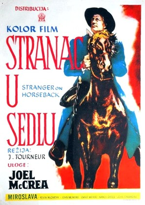 Stranger on Horseback - Yugoslav Movie Poster (thumbnail)