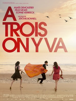 À trois, on y va - French Movie Poster (thumbnail)