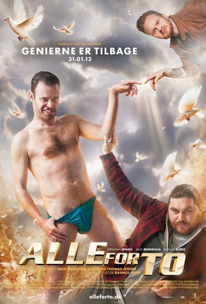 Alle for to - Danish Movie Poster (thumbnail)