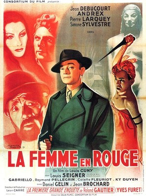 La femme en rouge - French Movie Poster (thumbnail)