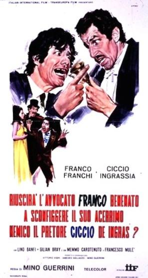 Riuscirà l'avvocato Franco Benenato a sconfiggere il suo acerrimo nemico il pretore Ciccio De Ingras