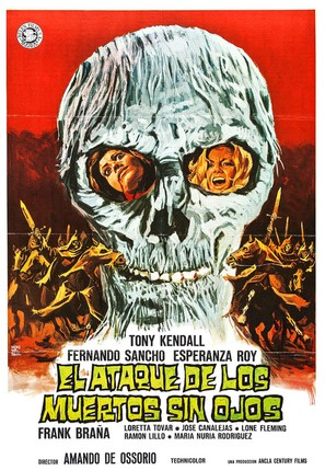 El ataque de los muertos sin ojos - Spanish Movie Poster (thumbnail)