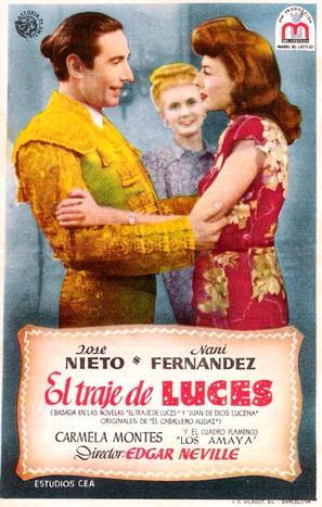 El traje de luces - Spanish Movie Poster (thumbnail)