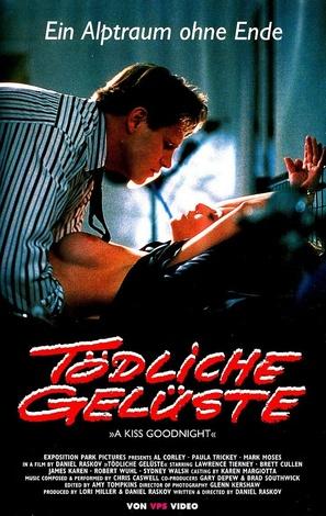 A Kiss Goodnight - German VHS movie cover (thumbnail)