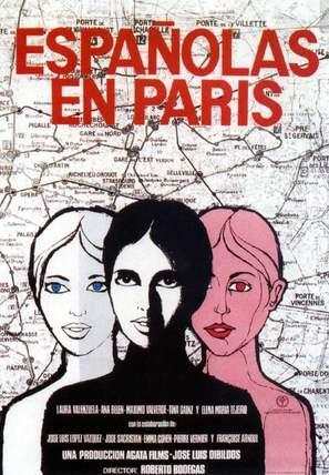 Españolas en París - Spanish Movie Poster (thumbnail)