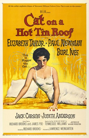 Cat on a Hot Tin Roof - Movie Poster (thumbnail)