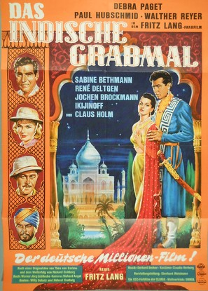 Indische Grabmal, Das - German Movie Poster (thumbnail)