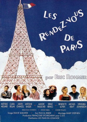 Les rendez-vous de Paris - French Movie Poster (thumbnail)