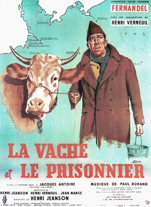 La vache et le prisonnier - French Movie Poster (thumbnail)