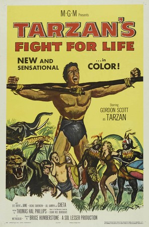Tarzan's Fight for Life - Movie Poster (thumbnail)