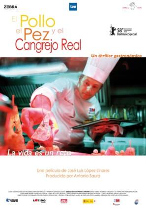 El pollo, el pez y el cangrejo real - Spanish Movie Poster (thumbnail)