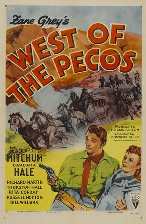 West of the Pecos - Re-release movie poster (thumbnail)