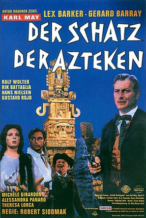 Der Schatz der Azteken - German Movie Poster (thumbnail)