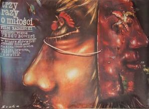 Trizhdy o lyubvi - Polish Movie Poster (thumbnail)
