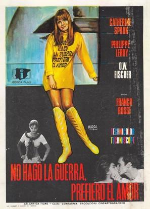 Non faccio la guerra, faccio l'amore - Spanish Movie Poster (thumbnail)