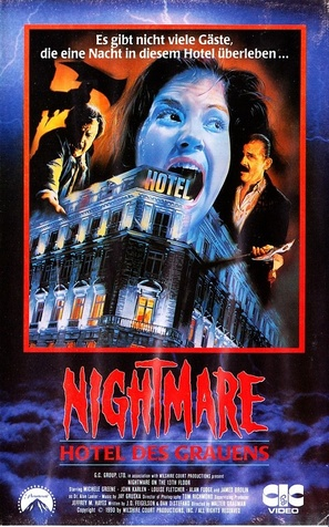 Nightmare on the 13th Floor - German VHS movie cover (thumbnail)