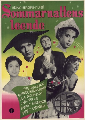 Sommarnattens leende - Swedish Movie Poster (thumbnail)