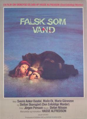 Falsk som vatten - Danish Movie Poster (thumbnail)