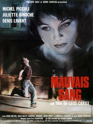 Mauvais sang - French Movie Poster (thumbnail)