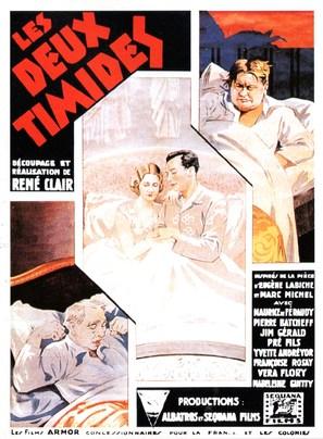 Les deux timides - French Movie Poster (thumbnail)